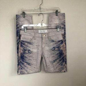IRO Nedira Splash Print Skinny Jeans